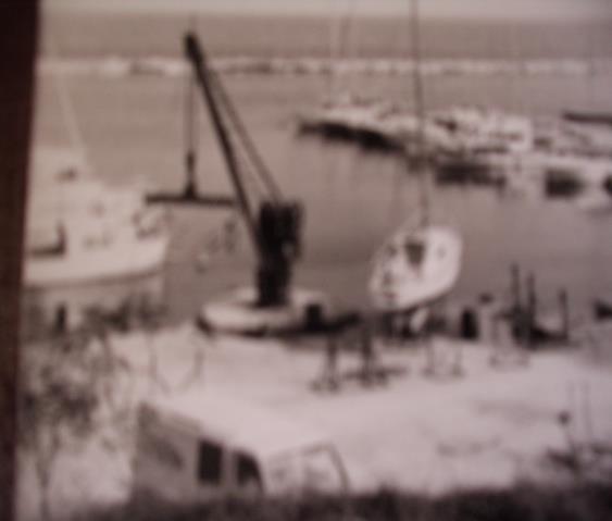 Club nautique de Martigues grue sur roue