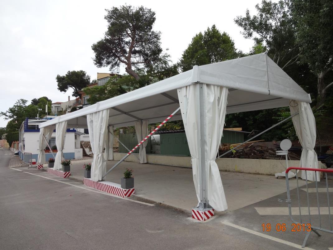 Nouveau chapiteau du club nautique de Martigues